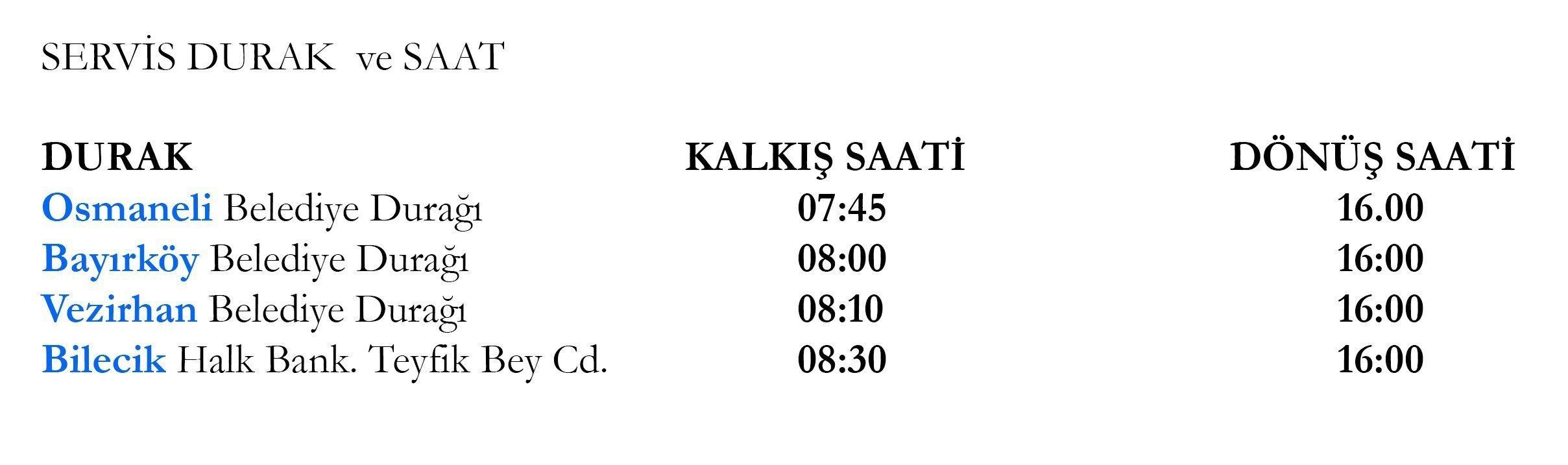 Hasta Servis Hizmeti