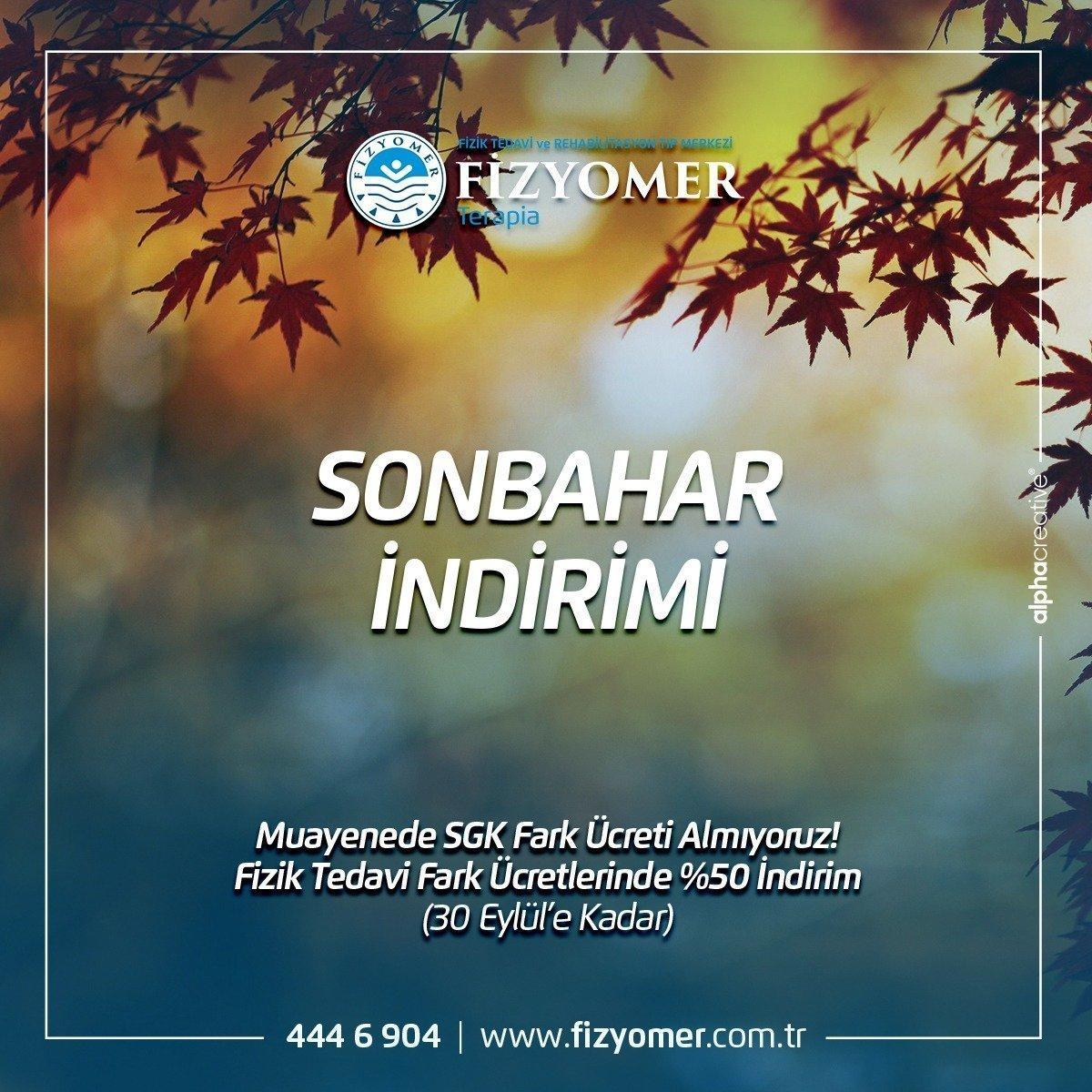 FİZYOMER'DEN SONBAHAR İNDİRİMİ !