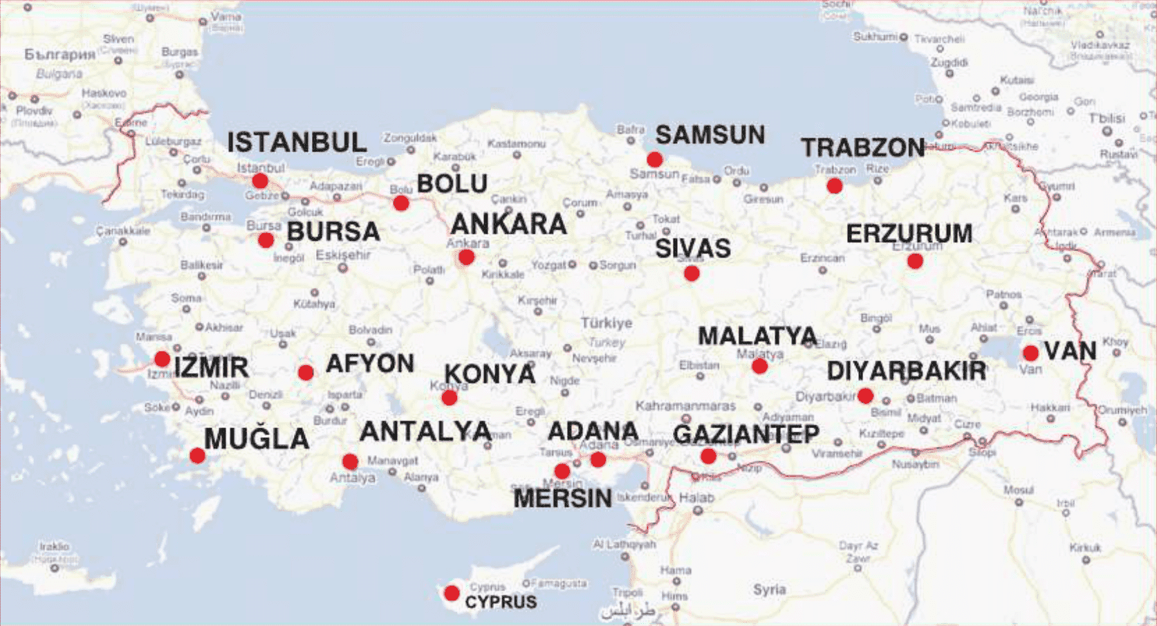 Health Care Map THTC Turkish Healthcare Travel Council