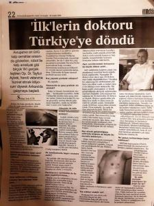"14 December, 2006 ""He is going to continue with his career in Ankara, Turkey."""