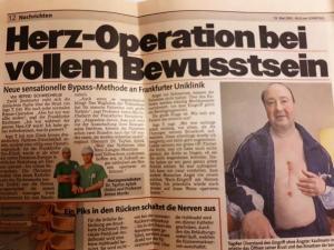 13 Mai,2001 Herz-operation Bei vollem Bewusstsein