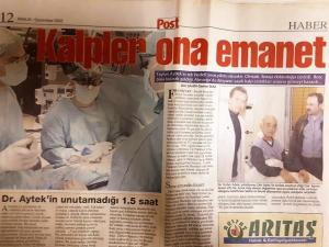 "Post Newspapaer, December, 2002 ""He became one of the most popular Cardiovascular Surgeon in the world at a very early age."""