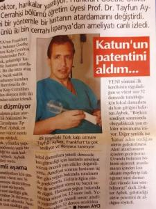 "Bypass in the Awake Patient (Hürriyet Newspaper, September 25, 2005): Worldwide known Turkish Cardiac Specialist Tayfun Aybek, MD, 39, is being loved in Frankfurt very much. ""I got the quantum patent."" Aybek said that he is the very first surgeon who performed this new method as he found it. With this method he said, body temperature is being kept at 32 degrees so that it provides blood flow in the capillary vessel. ""In this way, postoperative side effects are reduced."""