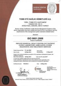 ISO 9001-2008 denetimi sonucunda hastanemiz 4. kez belgelendirilmiştir. 21-22 Mayıs 2014 tarihinde gerçekleşen ISO 9001-2008 yeniden belgelendirme denetimi sonucunda hastanemiz 4. kez belgelendirilmiştir.
