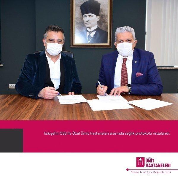 Eskişehir OSB ile Özel Ümit Hastaneleri arasında sağlık protokolü imzalandı.