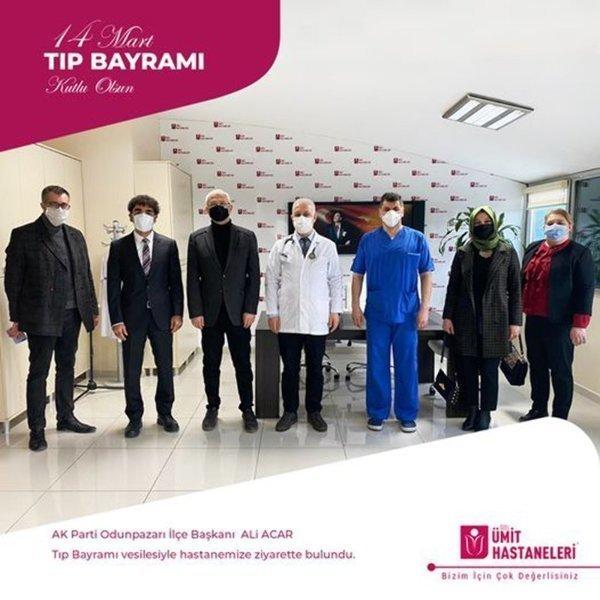 AK Parti Odunpazarı İlçe Başkanı ALi ACAR, AK Parti Odunpazarı İlçe Başkan Yardımcısı Yasin TURGUT ve ekibi Tıp Bayramı vesilesiyle hastanemize ziyarette bulundu.