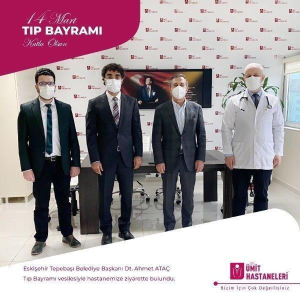 Eskişehir Tepebaşı Belediye Başkanı Dt. Ahmet ATAÇ ve ekibi Tıp Bayramı vesilesiyle hastanemize ziyarette bulundu.