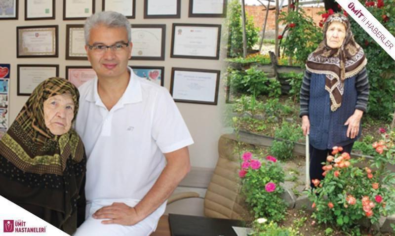 Özel Ümit Hastanesi'nde ki başarılı ameliyat sonrası bahçesine döndü