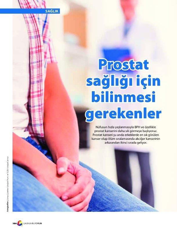 Prostat Sağlığı için Bilinmesi Gerekenler
