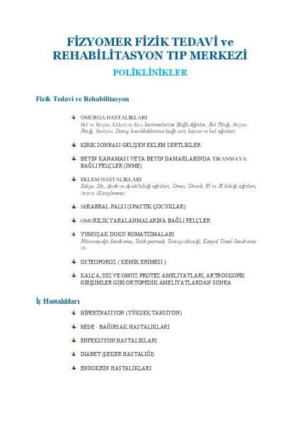 Poliklinikler