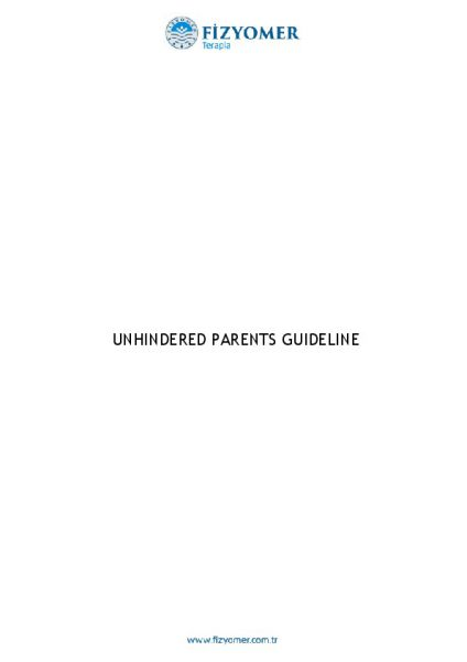 UNHINDERED PARENTS GUIDELINE