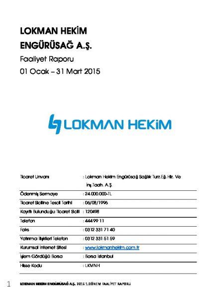 2015 - 3 Faaliyet Raporu