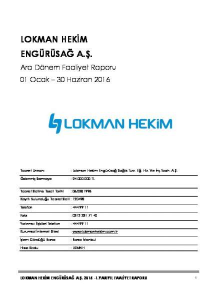 2016 - 06 Faaliyet Raporu