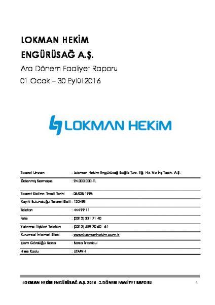 2016 - 09 Faaliyet Raporu