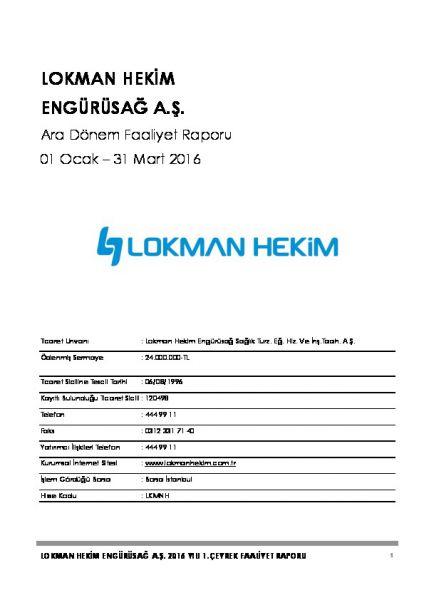 2016 - 03 Faaliyet Raporu