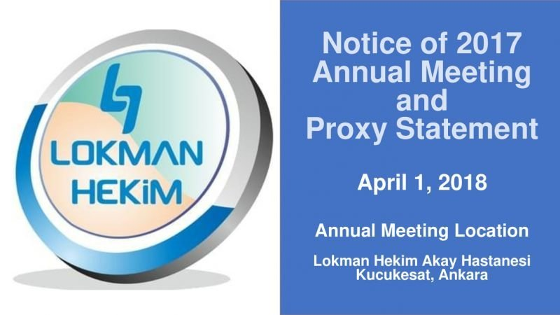 2017 AGM and Proxy Statements